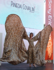 Marvelous monarch butterfly dress designed by Mexican Pineda Covalin was the piece de resistance at this fashion show.