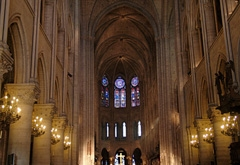 Interior of the beautiful Notre Dame Cathedral