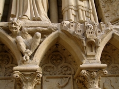 Detail of facade of Notre Dame