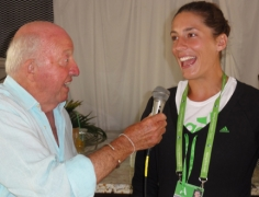 Bud interviewing a delightful Andrea Petkovic of Germany