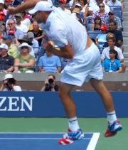 Andy Roddick serving