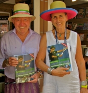 Anita and Bud selling books