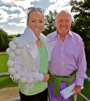 Bud and Bethanie Mattek-Sands with her Alex North Lady Gaga's designer designed Wimbledon jacket