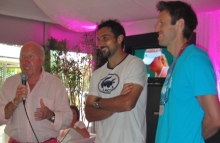 Bud with #1 Doubles Team, Nenad Zimonjic (Serbia) and Danny Nestor (Canada)