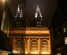 Chrysler Building reflections in Grand Central Station