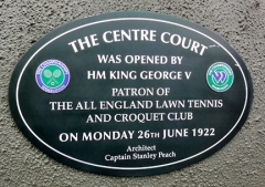 Commemorative plaque on Centre Court