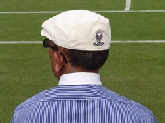 Linesman with his attractive Ralph Lauren uniform