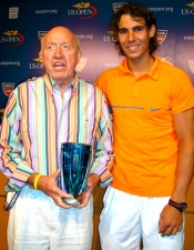 Rafael Nadal presented the Ron Bookman 2007 Award to Bud for his stellar career in covering tennis for the past 55 years.