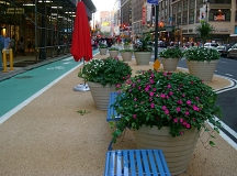 Another section of the promenade in the middle of Broadway. The construction of the multi block space cost $700,000.