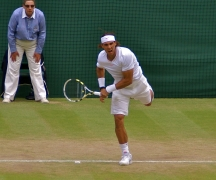 Rafa on Centre Court