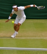 Rafael Nada on centre court
