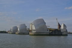 River Thames flood barrier completed in 1982