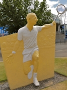 Rod Laver sculpture at Melbourne Park