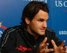 Roger Federer in a press conference