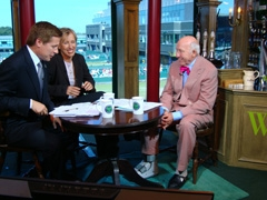 Bud participating in a Tennis Channel interview with Martina Navratilova and host, Bill Macatee