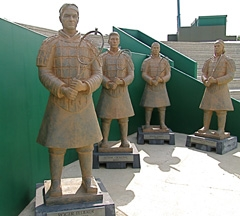 The other group of Terra Cotta Warriors includes (l-r) Roger Federer, Novak Djokovic, David Ferrer and Fernando Gonzalez.