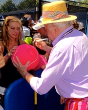 Bud signing autographs at the US Open