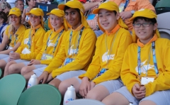Ball kids at the OZ Open