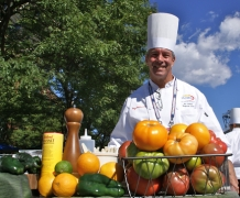 Chef's demonstration at the US Open
