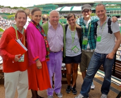 Our great crew for Tennis Channel filming during the Wimbledon fortnight..