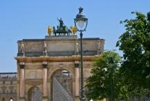 Arc de Triumph du Carrousel, built in 1808, provides a gateway to the Louvre