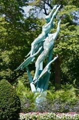 Sculpture in the garden median near the unisphere
