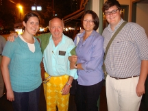Reunion with Barry Lorge's family in front of Lusardi's in New York City, Katie, Bud, Claudia and Joseph.