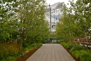 More of the wonderful High Line Garden with lush landscaping.