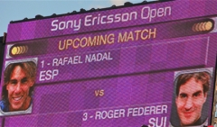 The scoreboard before the match
