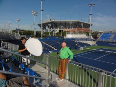 Bud filming on the new Court 17