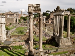 Overview of Forum from Capitoline Museum