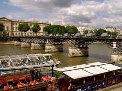 Pont des Artes is a magnet for picnickers and art exhibitions