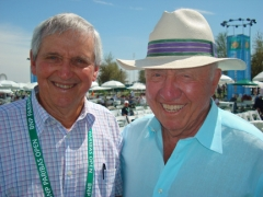 "Roy Emerson, in Indian Wellls to be honored, joined Bud at his daily forum: ""Tennis Talk with Bud"""