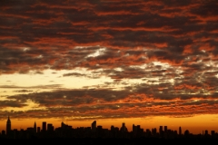 Sunset with Manhattan skyline