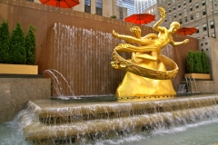 Rockefeller Center waterfall