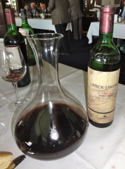 Winning wine of the 2011 Old Bottles Lunch, a 1966 Chateau-Lascombe Margaux